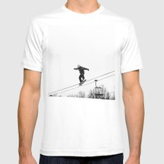 Time to Fly Mens Fitted Tee White MEDIUM