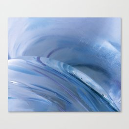 Blue Crystal Glass Abstract  Canvas Print