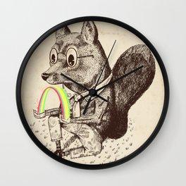 Strange Fox Wall Clock