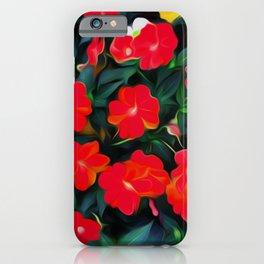 Painted Impatiens Cluster iPhone Case