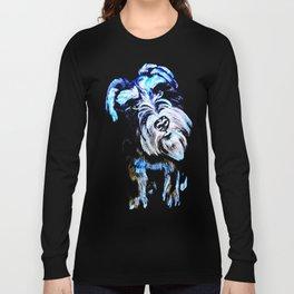 Blue Schnauzer Long Sleeve T-shirt
