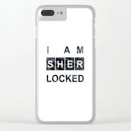 SHERLOCK I am Sherlocked Print Clear iPhone Case
