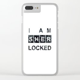 SHERLOCK I am Sherlocked Print Clear iPhone Case