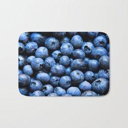 Blueberries pattern Bath Mat