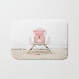 Beach photography pink tower Bath Mat