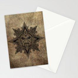 Ancient Stone Mayan Sun Mask Stationery Cards