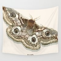 moth Wall Tapestries featuring Moth by Elyse Beisser