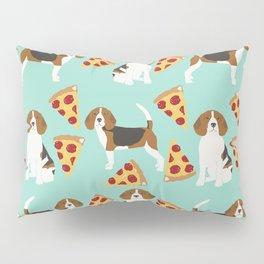 beagle pizza dog lover pet gifts cute beagles pure breeds Pillow Sham