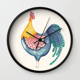 Gala Rooster Wall Clock