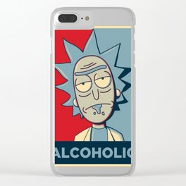 ALCOHOLIC T-Shirt Clear iPhone Case