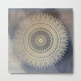 DESERT SUN MANDALA Metal Print