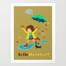 Hello October Art Print