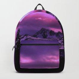 Chugach Mountains in Purple - II Backpack