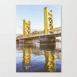 Yellow Reflection Canvas Print