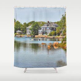 Eel Pond, Woods Hole in Falmouth on Cape Cod Shower Curtain