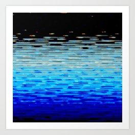 Blueish Blur Art Print