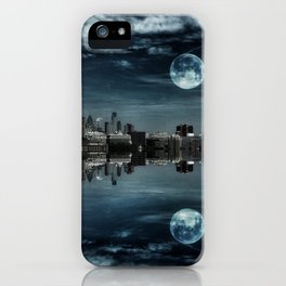 Night in the Reflection iPhone Case