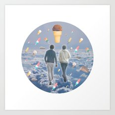 Bill & Nick's Ice Cream Adventure! Art Print