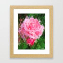 Pink Roses in Anzures 2 Art Triangles 2 Framed Art Print