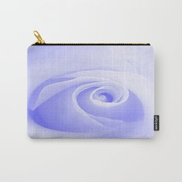 Periwinkle Blue Rose Carry-All Pouch