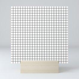 Black and White Grid Pattern Mini Art Print