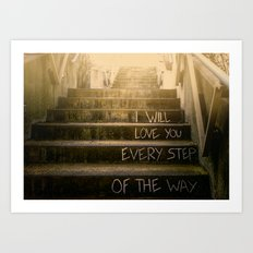 Love Steps Art Print