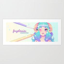 Guenwyvhar Banner Art Print
