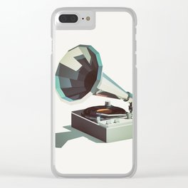 Lo-Fi goes 3D - Vinyl Record Player Clear iPhone Case