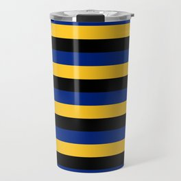 Barbados flag stripes Travel Mug