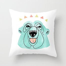 Polar bears don't care. Throw Pillow