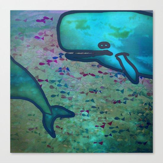 Dear Whale Canvas Print