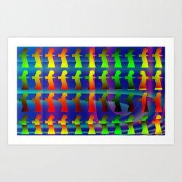 Disruptive element Art Print