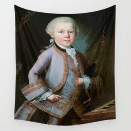 Wolfgang Amadeus Mozart (1756 -1791) by Barbara Krafft (1819) Wall Tapestry