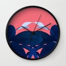 Botanical Leaf Wall Clock