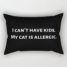 The Allergic Cat Rectangular Pillow