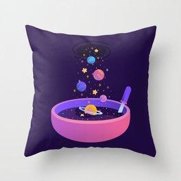 Macrocosmic Cereal Throw Pillow