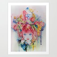 Nadias dream garden Art Print