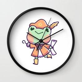 Frog Pirate Captain Treasure Map Kid Gift Wall Clock