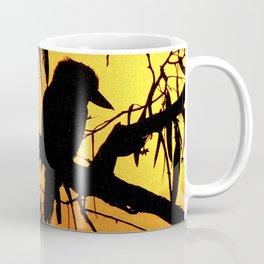 Kookaburra Silhouette Solstice Sunset Coffee Mug