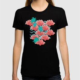 Sea Turtles in The Coral - Ocean Beach Marine T-shirt