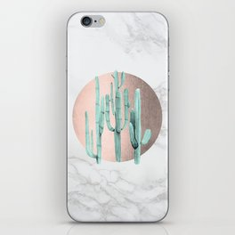 Desert Cactus Marble Sun Bronze + Sage by Nature Magick iPhone Skin