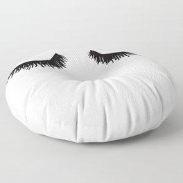 Eyelashes on Pink Lashes Art Floor Pillow