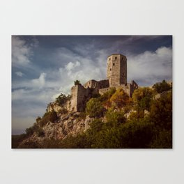 An old abandoned castle Canvas Print