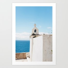 White Cross by the ocean | Travel photography Corsica, France | Fine Art photo print Art Print