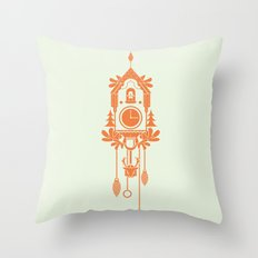 Cuckoo Clock Throw Pillow