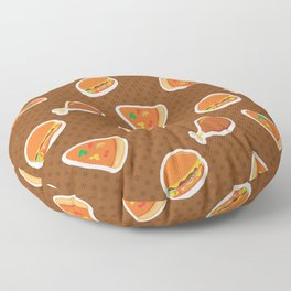 Pizza Burgers and Fried Chicken Picnic Time Floor Pillow
