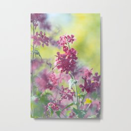 #Stunning #flowers #pattern in #soft #colors and #big #shades Metal Print