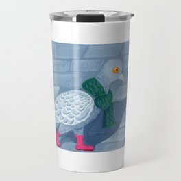 Pigeon in the city Travel Mug