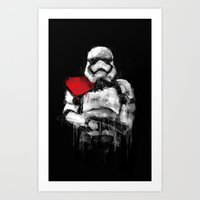 trooper Art Prints featuring Trooper by Rafal Rola