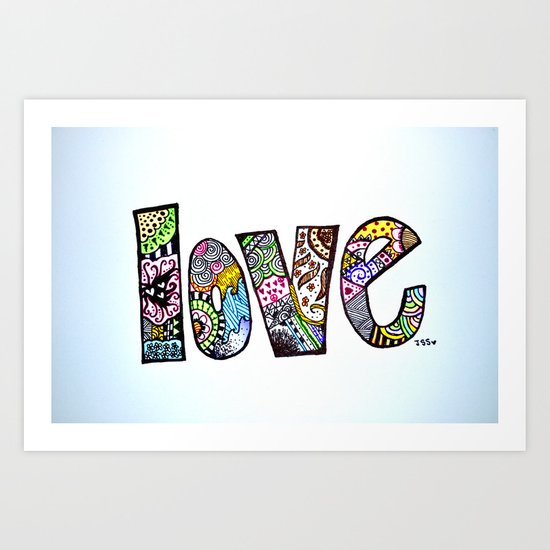 love is all you need. (color) Art Print
